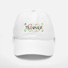 Colorful Runner Baseball Baseball Cap