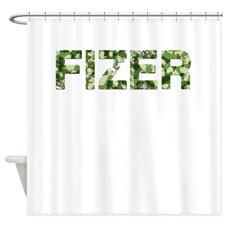 Fizer Vintage Camo Shower Curtain By Thecafemarket