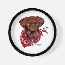 Tucker Chocolate Lab Puppy Wall Clock