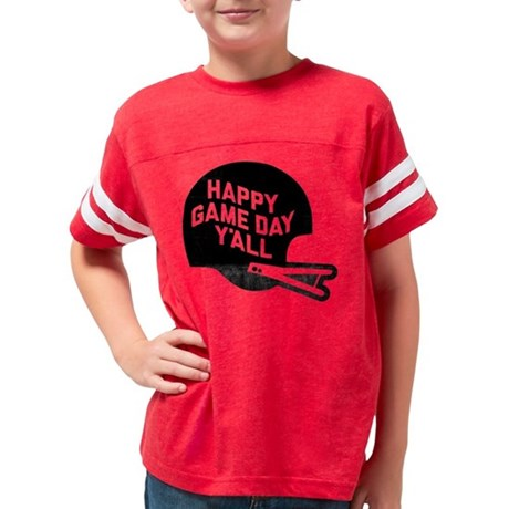 Happy Game Day Y'All Youth Football Shirt