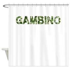 Gambino, Vintage Camo, Shower Curtain