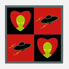 Tile Coaster - Aliens & Saucers
