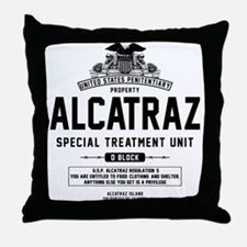 Alcatraz S.T.U. Throw Pillow