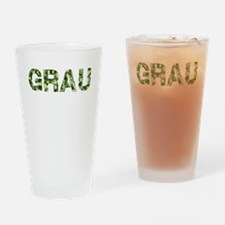 Grau, Vintage Camo, Drinking Glass