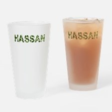 Hassan, Vintage Camo, Drinking Glass