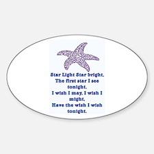 STAR LIGHT - STAR BRIGHT Sticker (Oval)