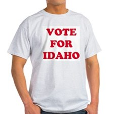 VOTE FOR IDAHO Ash Grey T-Shirt