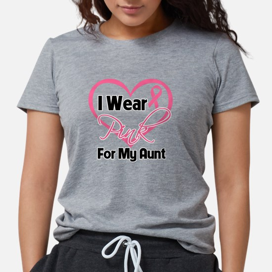 I Wear Pink Heart Ribbon  Womens Tri-blend T-Shirt