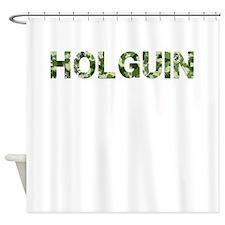 Holguin, Vintage Camo, Shower Curtain