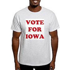 VOTE FOR IOWA Ash Grey T-Shirt