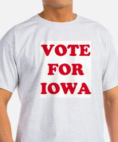 VOTE FOR IOWA Ash Grey T-Shirt
