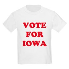 VOTE FOR IOWA Kids T-Shirt