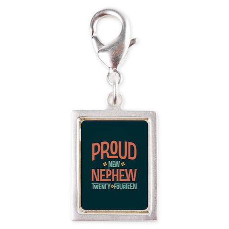 Proud New Nephew 2014 Silver Portrait Charm