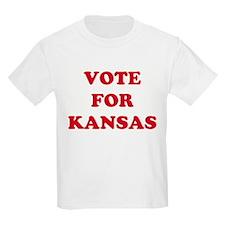 VOTE FOR KANSAS Kids T-Shirt