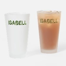 Isabell, Vintage Camo, Drinking Glass