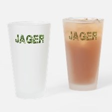 Jager, Vintage Camo, Drinking Glass