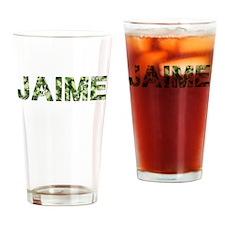 Jaime, Vintage Camo, Drinking Glass