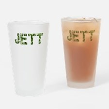 Jett, Vintage Camo, Drinking Glass
