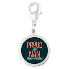 Proud New Nan 2014 Silver Round Charm