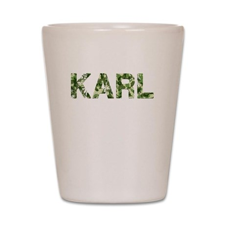Karl, Vintage Camo, Shot Glass