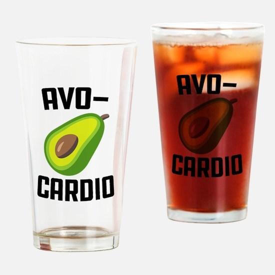 Avo-Cardio Avocado Emoji Drinking Glass