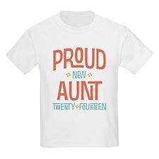 Proud New Aunt 2014 T-Shirt