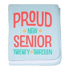 Proud New Senior 2013 baby blanket