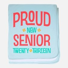 Proud New Senior 2013 baby blanket