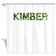 Kimber, Vintage Camo, Shower Curtain