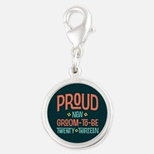Proud New Groom To Be 2013 Silver Round Charm