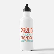 Proud New Grandpa 2013 Water Bottle