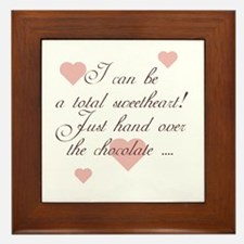 Just Hand Over the Chocolate Framed Tile