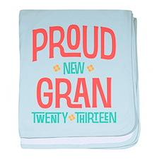 Proud New Gran 2013 baby blanket