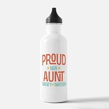 Proud New Aunt 2013 Water Bottle