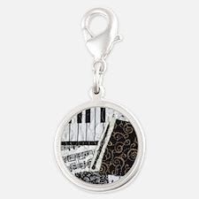 Oboe Silver Round Charm