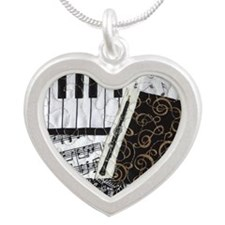 Oboe Silver Heart Necklace