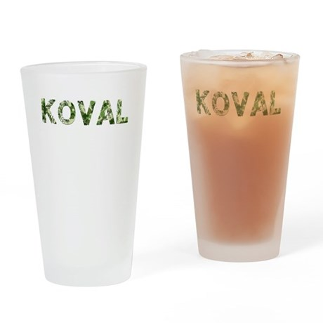 Koval, Vintage Camo, Drinking Glass