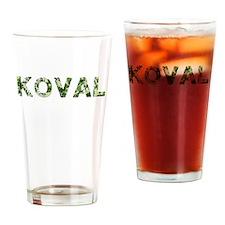 Koval, Vintage Camo, Drinking Glass
