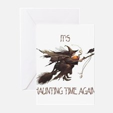 Witch haunting time Greeting Cards