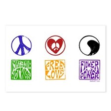 Hippie Power Postcards (Package of 8)