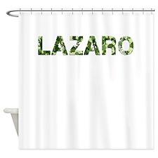 Lazaro, Vintage Camo, Shower Curtain