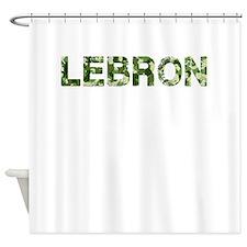 Lebron, Vintage Camo, Shower Curtain