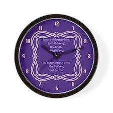 Bible Verse John 14 6 Wall Clock