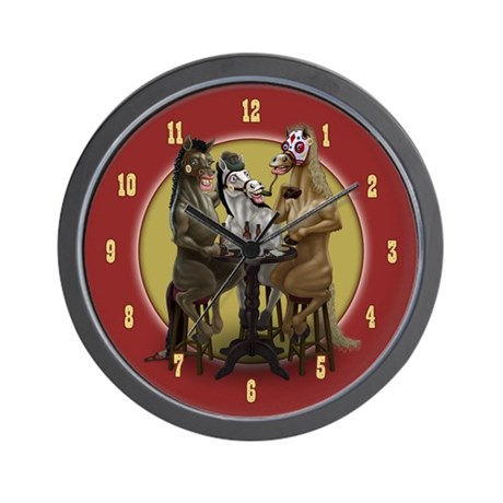 The Ponies Wall Clock