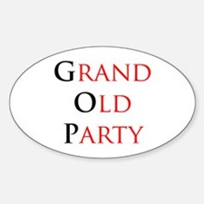Grand Old Party (GOP) Oval Decal