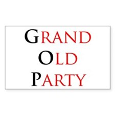 Grand Old Party (GOP) Rectangle Decal