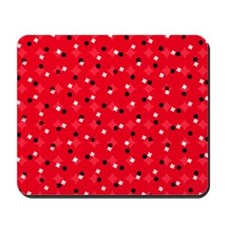 Red Confetti Custom Mousepad