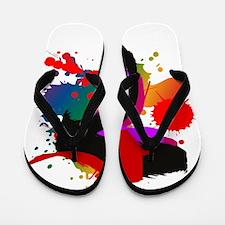 Arty splashes on a Flip Flops