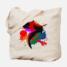 Arty splashes on a Tote Bag