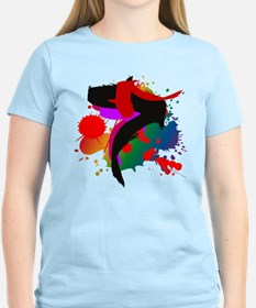 Arty splashes on a T-Shirt